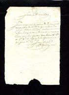 2804-document-2042 Lettre 17 Mai 1809 Quittance Robert Canredou - Manuscripts
