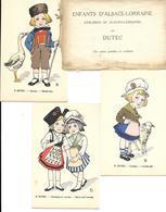 DUTEC - Série 10 Cartes . ENTANTS D'ALSACE-LORRAINE. - Andere Zeichner