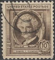 USA 1940 Famous Americans - 10c. Samuel L. Clemens (Mark Twain) FU - Oblitérés