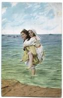 CPA 2 ENFANTS  Bains De Mer ! époque 1900 ! - Portraits