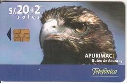 PERU - Eagle, Apurimac/Buteo De Abancay, Telefonica Telecard, Chip GEM3.1, Tirage %50000, 04/01, Used - Peru