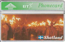 SHETLAND ISL. - Shetland Islands Heritage/Up Helly AA(BTG216), First Issue, CN : 310K, Tirage 2000, Mint - Phonecards