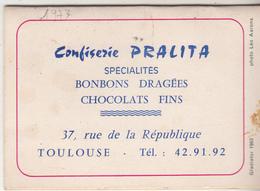 Petit Calendrier 1977 De La   Confiserie PRALITE à Toulouse - Calendars