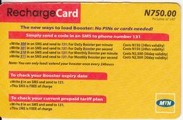 NIGERIA - MTN Recharge Card N 750, Used - Nigeria