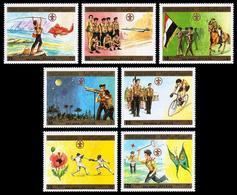 Scouting, Space. Yemen Arab Republic (YAR) 1980 Mi.1610-6A MNH** - Unused Stamps