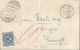 Taxierter BoM  Pfyn - Frauenfeld              1880 - Strafportzegels