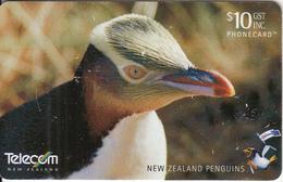 NEW ZEALAND(chip) - Yellow-Eyed Penguin, Tirage 60000, 05/03, Used - New Zealand