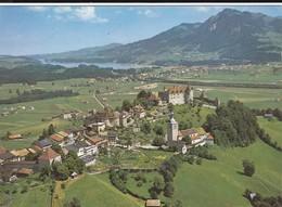 Gruyères, Vue Aérienne, Broc Et Le Lac De La Gruyère - FR Fribourg