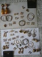 Lot D'anciennes Boucles Oreilles -  FANTAISIE - Collection -  LIRE  DETAIL - - VINTAGE - FASHION   EARRINGS - Jewels & Clocks