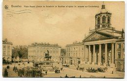 CPA - Carte Postale - Belgique - Bruxelles - Place Royale - 1911 (CP3703) - Marktpleinen, Pleinen