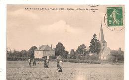Saint Gervais En Valliere - Canton Verdun Sur Le Doubs - Eglise - Ecole De Garçons  -  CPA° - France