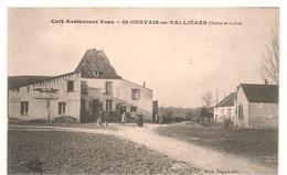 Saint Gervais En Valliere - Canton Verdun Sur Le Doubs - Café Restaurant Veau  -  CPA° - Autres Communes