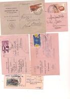 7753 REPUBBLICA 5 AVVISI RICEVIMENTO FRANCOBOLLI SINGOLI ISOLATI - 6. 1946-.. Repubblica