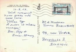 SEINE ST DENIS - OMEC - AEROPORT DU BOURGET - ENTREPOT POSTAL - AFFRANCHISSEMENT A 0F25 POUR LA BELGIQUE LE 10-8-1968 - Postmark Collection (Covers)
