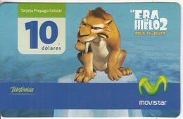 ECUADOR - Cinema/Ice Age 2, Movistar By Telefonica Prepaid Card 10 Dolares, Exp.date 03/07, Used - Ecuador