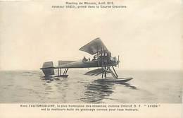 - Dptsdiv.-ref-ZZ542- Monaco - Meeting Avril 1913 - Aviateur Bregi - Aviateurs - Hydravions - Aviation -pub Automobiline - Monaco