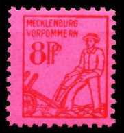 SBZ MECKLBRG VORP. Nr 11xb Postfrisch X65203E - Sowjetische Zone (SBZ)
