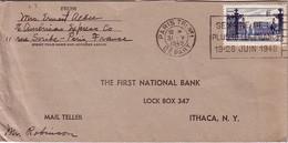 PARIS - TRI N°1 - DEPART - OMEC SEMAINE DE LA PLUS BELLE FRANCE 19-26 JUIN 1949 - AFFRANCHISSEMENT 25F NANCY POUR LES US - Postmark Collection (Covers)
