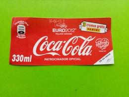 Label,rótulo Coca-Cola From Portugal.UEFA EURO2012 - Coca-Cola