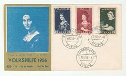 1956 SAAR FDC Art REMBRANDT Volkshilfe Stamps Cover - FDC