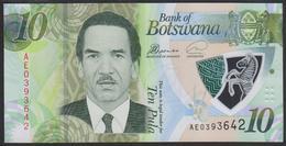 Botswana 10 Pula 2018 Pnew UNC - Botswana