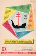 XX CAMPAGNA NAZIONALE ANTITUBERCOLARE 1957 - ILL. M. ROVERONI - Salute
