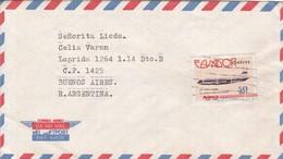 DR HOMERO  MARTINEZ TO LIC CELIA VARAN. AIRMAIL CIRCULEE QUITO ECUADOR A BUENOS AIRES. CIRCA 1987.-BLEUP - Ecuador