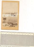 7825 Foto Epoca Albumina Fine '800 Trieste Squadra Inglese Navi Porto - Places