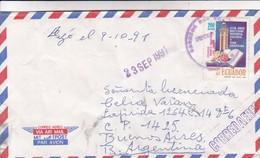 DR HOMERO  MARTINEZ TO LIC CELIA VARAN. AIRMAIL CIRCULEE QUITO ECUADOR A BUENOS AIRES. CIRCA 1990.-BLEUP - Ecuador