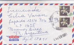 DR HOMERO MARTINEZ TO LIC CELIA VARAN. AIRMAIL CIRCULEE QUITO ECUADOR A BUENOS AIRES. CIRCA 1991.-BLEUP - Ecuador
