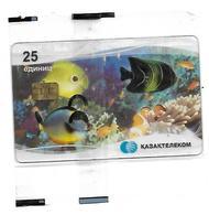 @+ Kazakhstan - Telecarte à Puce AX02 - Tropical Fish Transparent 25U - NSB - Ref : KZ-KZT-0030A - Kasachstan