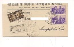 7858 ALLEANZA 3 VALORI RACCOMANDATA 1941 TARIFFA £1,10 - Poststempel