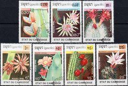 CAMBOGIA 1990 - CACTUS - SERIE COMPLETA NUOVA CTO - Cambogia