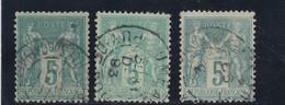 SAGE N° 75 TYPE II B   3 NUANCES  AVEC CAD - REF ACDIV 14 - 1876-1898 Sage (Type II)