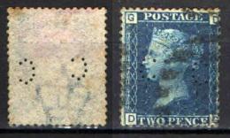"GRAN BRETAGNA - 1858 - EFFIGIE DELLA REGINA VITTORIA - FILIGRANA""GRANDE CORONA"" - PERFIN - 1840-1901 (Regina Victoria)"