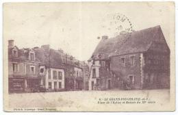 CPA LE GRAND FOUGERAY, PLACE DE L'EGLISE, ILLE ET VILAINE 35 - France