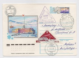 ANTARCTIC Mirny Station 23 SAE Base Pole Mail Cover USSR RUSSIA Ship Tractor - Onderzoeksstations
