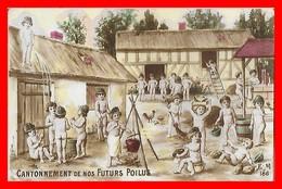 CPA MILITARIA. Cantonnement De Nos Futurs Poilus, Enfants...S066 - Patriotiques