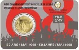 Belgie 2018  2 Euro Commemo  Révolte D'étudiants 1968   Version Français     In Coincart   Extreme Rare !!! - België