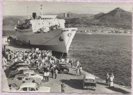 CPSM - Cie S.N.C.M - ILE ROUSSE - ARRIVEE Du PAQUEBOT NAPOLEON (BP Voitures) - Edition MC.Miramont - Ferries