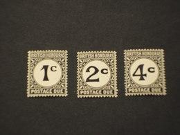 HONDURAS - TASSE - 1923 CIFRA 3 VALORI - NUOVO(++) - British Honduras (...-1970)