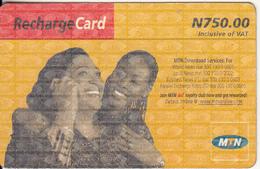 NIGERIA - 2 Girls On Phone, MTN Recharge Card N 750, Used - Nigeria