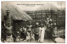 Mission Du Shiré (Afrique) Des Pères Montfortains - Scène De Village - 2 Scans - Malawi