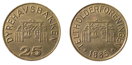 01678 GETTONE JETON TOKEN DENMARK AMUSEMENT PARK DYREHAVSBANKKER 25 TELTHOLDERFORENINGEN - Unclassified