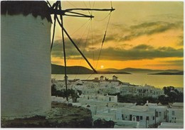 Greece, Sunset At Mykonos, Unused Postcard [21294] - Greece