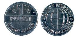 01303 GETTONE JETON TOKEN AMUSEMENT GAMING MACHINE 1 PUNKT MAGIC GAMES - Allemagne