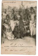 Colonies Françaises - DAHOMEY - Allada - S.M. Gi-Gla, Roi D'Allada Et Ses Conseillers - 1903 - 2 Scans - Dahomey