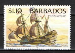 BARBADOS - 1996 - ANTICO VELIERO: WILLIAM AND JOHN (1627) - MNH - Barbados (1966-...)