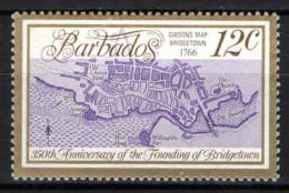 BARBADOS - 1978 - MAPPA DI BRIDGETOWN - MH - Barbados (1966-...)
