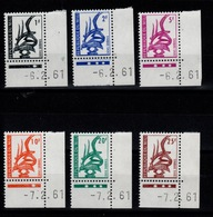 Mali - Taxe YV 1 à 6 N** Luxe Coin Datés - Mali (1959-...)